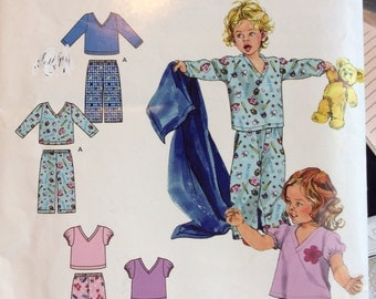 Simplicity 2734 Child Sleepwear size 1/2-4