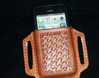 Handcrafted Leather Pancake Phone Holster