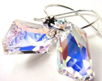 Swarovski Crystal AB De-Art Earrings