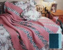The Needlecraft Shop GARDEN STRIPES By Aline Suplinskas - Crochet Afghan Collector's Series Pattern