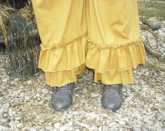 Stomping Prairie Twigs Double Ruffle Pantalettes from Copper and Twigs by Tina-rie Studio