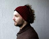 Mens Headband  Striped hair wrap Dread band Guys knit hair wrap Mens dreadlock tube hat mens gift