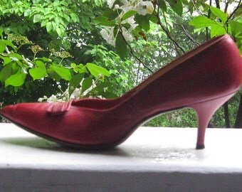 Red Leather Women's Shoes Socialites