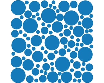100 Wall Safe Decal Vinyl Polka Dots Circles Azure Light Blue Removable Temporary Stickers Adhesive