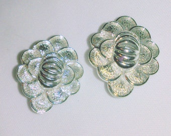 Vintage 1950's Coro Silver Tone Earrings