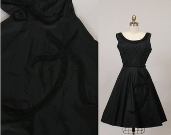 1950's party dress / Black Starfish dress