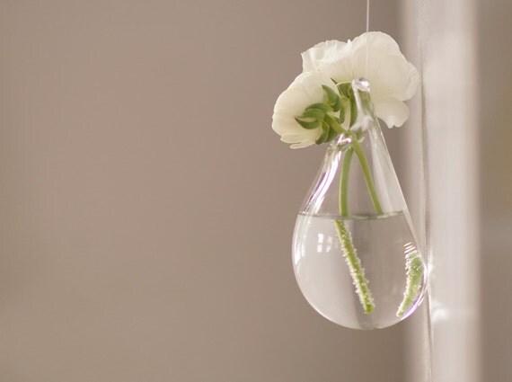glass wall vase hand blown glass art clear glass vase. Black Bedroom Furniture Sets. Home Design Ideas
