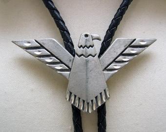 1993 ECE Modernistic Pewter Thunderbird Bolo Tie