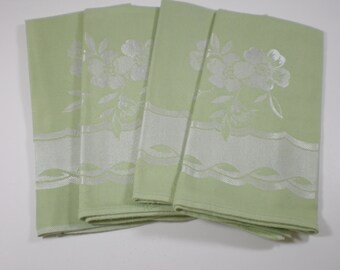 Dyed Vintage Linen Damask Napkins - Set of 4
