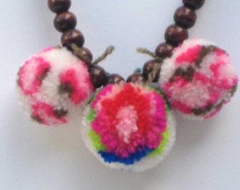 Adorable Pom Pom necklace