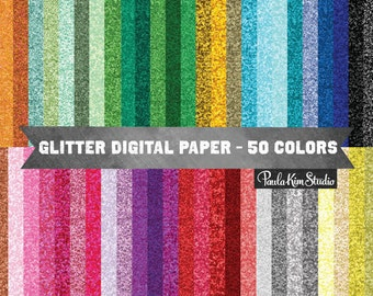 Glitter Digital Paper, Glitter Clipart Backgrounds, Commercial Use, Instant Download, Glitter Textures