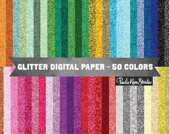 Glitter Digital Papers Downloadable Images Digital Clip Art Commercial Instant Download Graphics