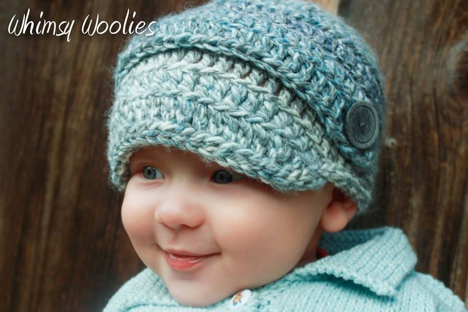 Crochet Baby Newsboy Pattern: Perfect Two DK by whimsywoolies