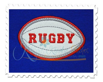 Rugby Applique Double Satin