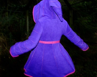 Plain Fleece Short Tournedot Jacket(length 3).6 stripe positively pixie hood/6 stripe sidhe sleeves