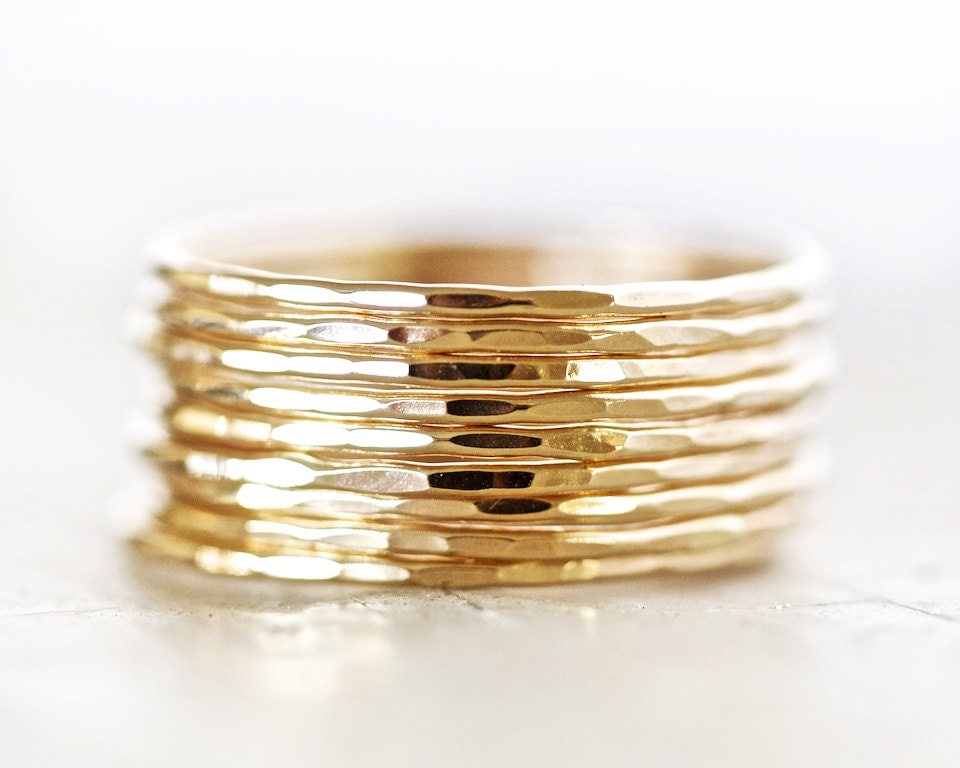 gold stacking rings thin stacking rings gold stack ring. Black Bedroom Furniture Sets. Home Design Ideas