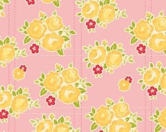 Sidewalks by October Afternoon for Riley Blake Designs - Floral in Pink - 1/2 Yard