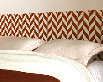 Herringbone Headboard decal  | Vinyl wall sticker decal | Removable Home Decor | Trendy Bedroom Decor | FREE SHIPPING