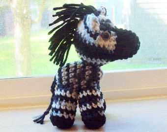 Amigurumi Zebra  (Finished Doll)