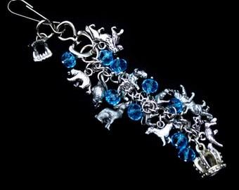 Kate Daniels Theme Purse Charm, Purse Jewelry, Bag Charm, Bag Clip, Zipper Pull, Keychain, Lanyard, Urban Fantasy, Custom Author Swag