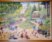 Double-sided Rossignol Vintage French School  poster of The Park and Making Pancakes
