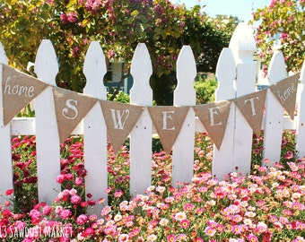 SALE! Home Sweet Home Burlap Banner or Sign - Housewarming Gift, Housewarming Party MARKED DOWN from 30.00