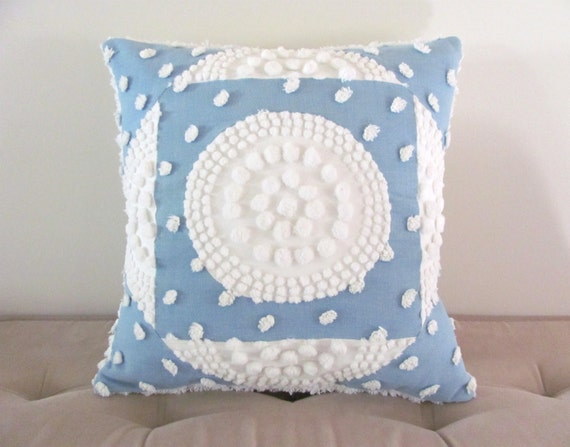Shabby Chic Pillows Target : Blue pillow cover WHITE TARGET chenille by moreChenilleChateau