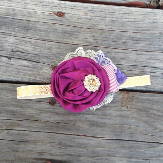 Disney Collection - Princess RAPUNZEL Tangled Can Can Headband- Disneyland Disney, Princess Spring, Summer, Newborn, Photo prop