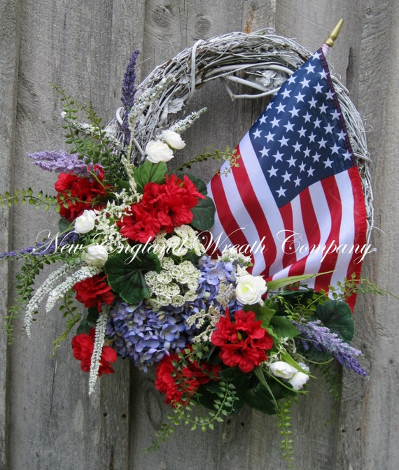 Patriotic Wreath Fourth Of July Decor Memorial Day