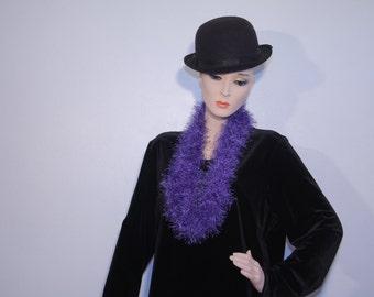 Purple Fun Fur Infinity Scarf