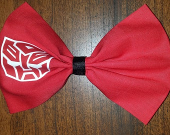 Transformers Autobot Hair Bow