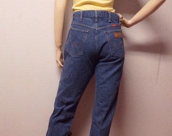 Wrangler High Waisted Denim Jeans Vintage  80's Waist 27 inches
