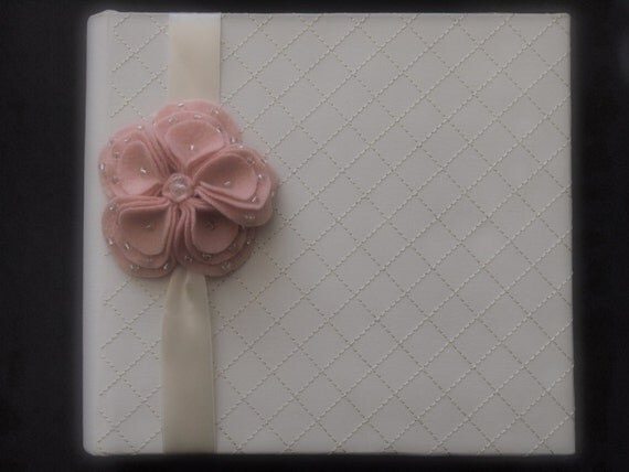 Photo Album Ivory Peach Pink