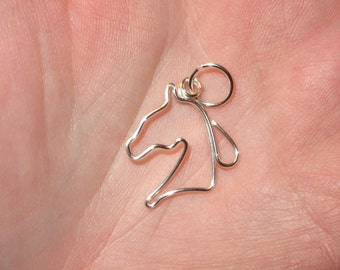 Wire Wrapped Horse Head MADE to ORDER pendant