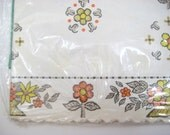 Vintage Shelf Paper, Drawer Liner Royal Lace - Original Package, Decorative Edge, Floral Fall Colors - Avocado Green, Burnt Orange