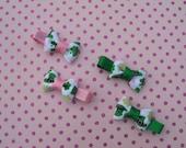St. Patrick's Day Leprechaun Mini Tuxedo Hair Bow Set