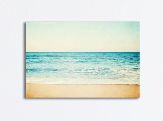 Blue Canvas Art Diy: Ocean Canvas Art Large Beach Sea Photography Seascape Aqua