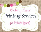 Casbury Lane Professional Printing Services-40 Double Sided Invitations with Envelopes