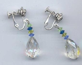 Sparkling vintage earrings signed Vendome