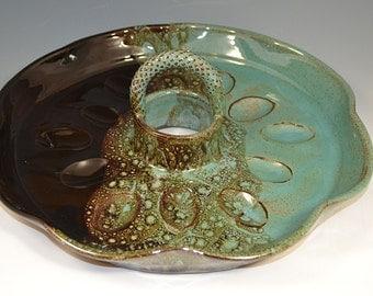 Deviled Egg Tray, deviled eggs, egg tray, handmade pottery