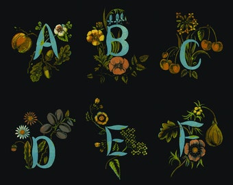 Botanical Alphabet Prints