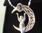 Celtic Knot Moon Goddess Pendant