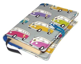 Book Cover, VW Camper Vans, Handmade Journal Cover, Splitty Book Cover, UK Seller