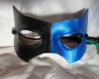 Leather Mask Domino Carnivale