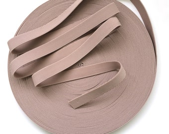 """1"""" Muted Dusty Pink Stretch Elastic Band"""