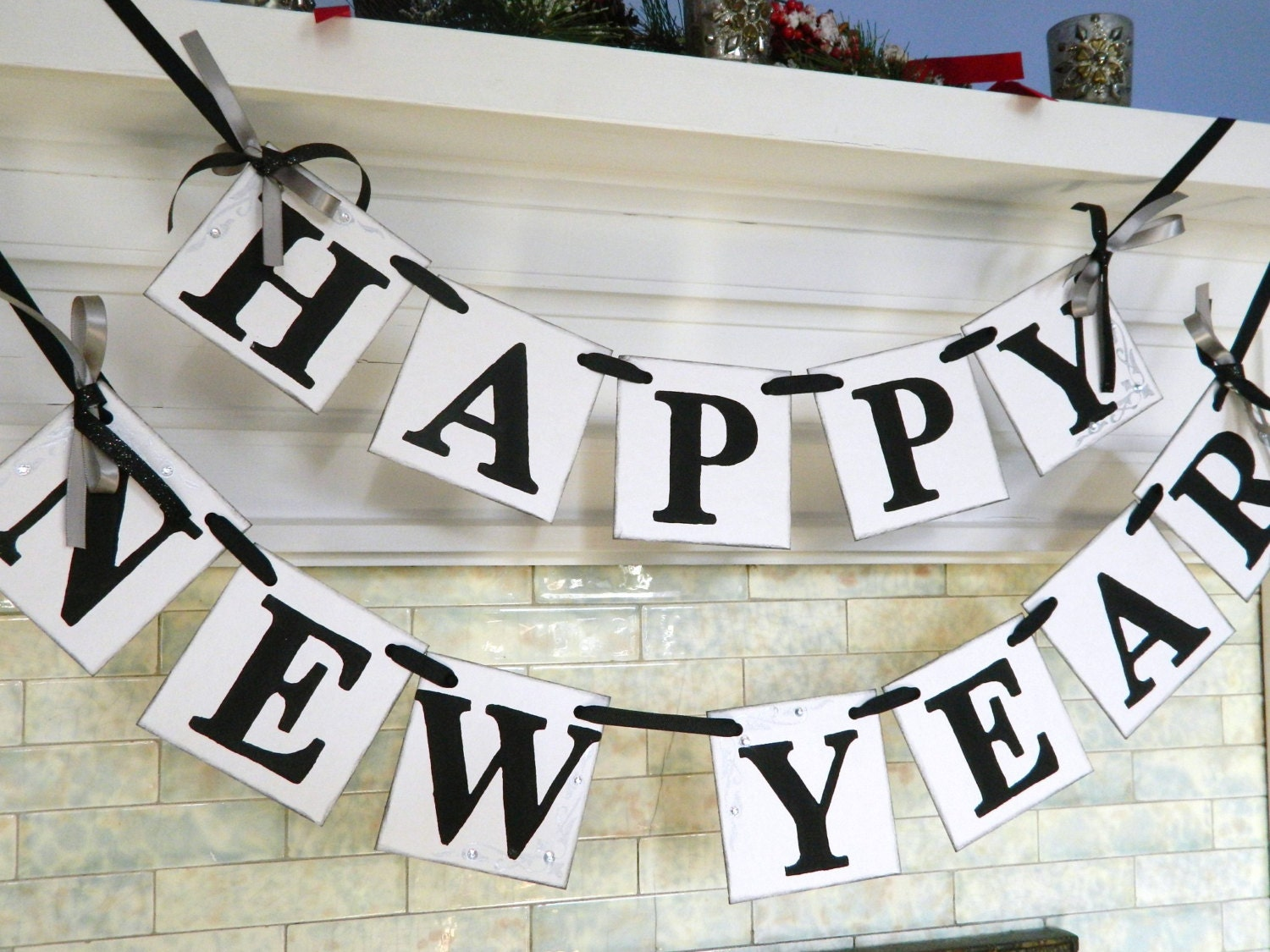 Happy New Year Banner New Years Eve Party Decorations Photo