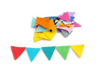 Felt shapes triangle geometric shape fabric pre cut shapes felt bunting