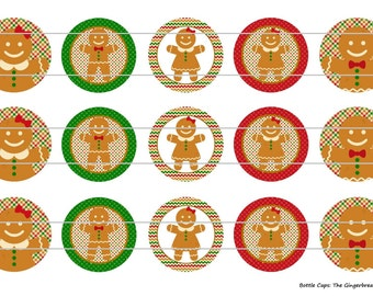 "15 The Gingerbread 1 Digital Download for 1"" Bottle Caps (4x6)"