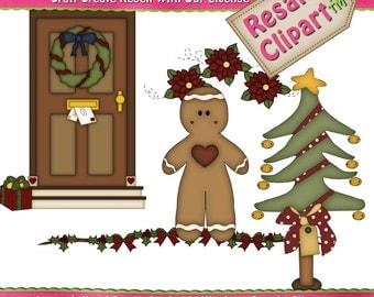 Prim Christmas 1 Clipart (Digital Download)