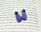 Eggplant Button Earrings, Button Jewelry, Eggplant Earrings, Food Jewelry